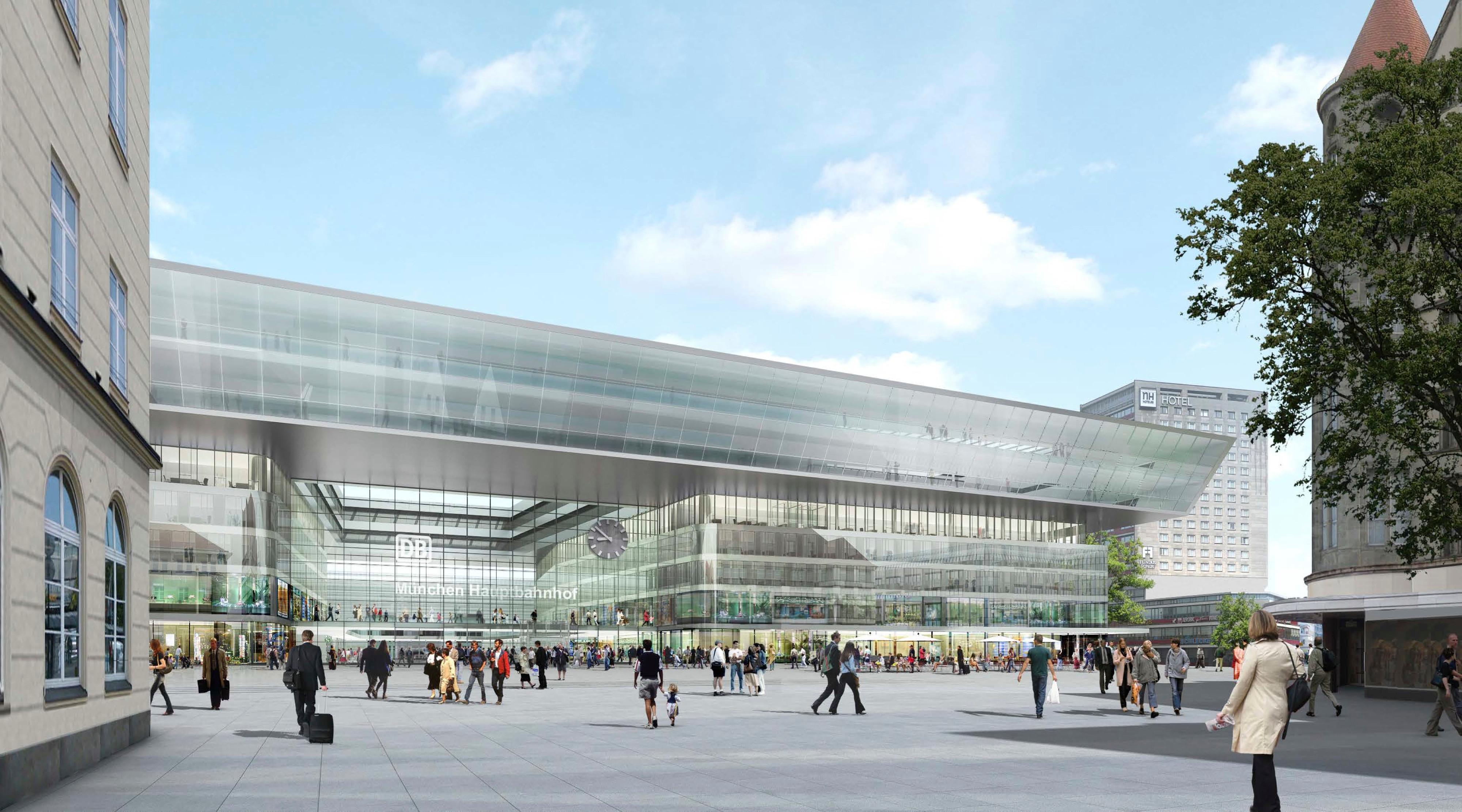 Visualisierung München empfangsgebäude alle infos zum neubau des hauptbahnhof münchen